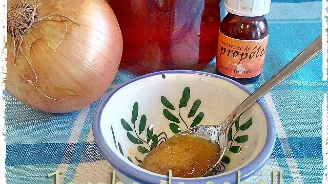 jarabe de cebolla y azucar para la tos