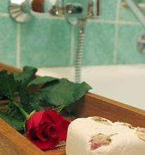 Baño con rosas