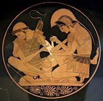Aquiles venda el brazo de su amigo Patroclo. Gracias a la wikipeadia.org