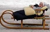 Bebé en invierno