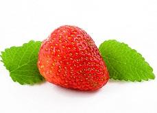 fresas y menta.