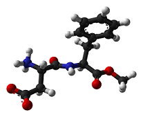 Molécula Aspartamo.