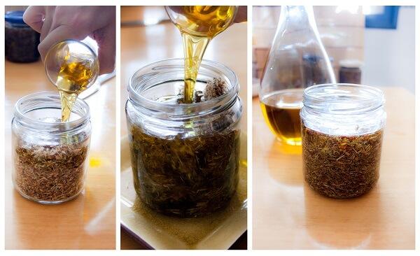 Aceite de oliva y planta hiperico