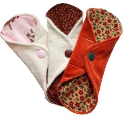 3 salva slip de tela de colores