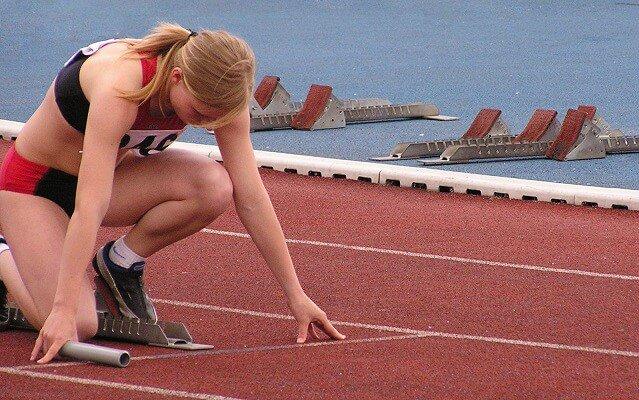 atleta en lalínea de salida