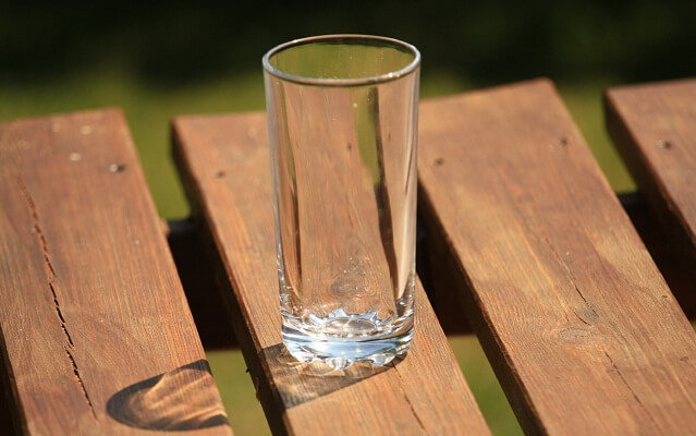 vaso de cristal