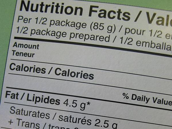Leer el etiquetado de los alimentos
