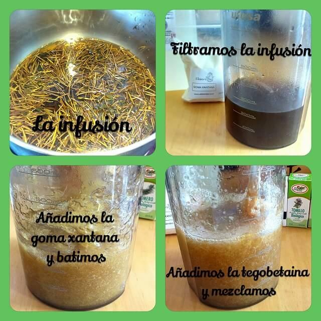 elaboracion del champu anticaida
