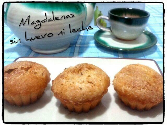 Magdalenas deliciosas sin huevo ni leche