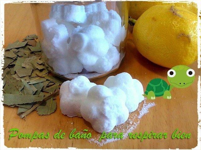 pompas de bano junto a eucalipto y limon