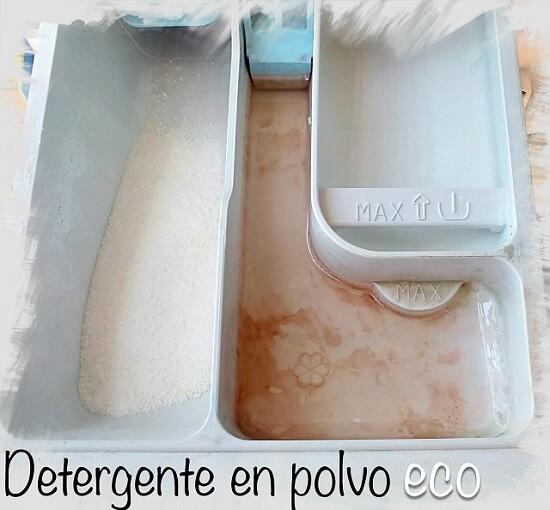 Detergente en polvo para la lavadora