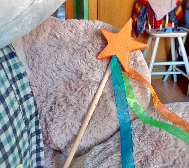 barita con estrella de madera