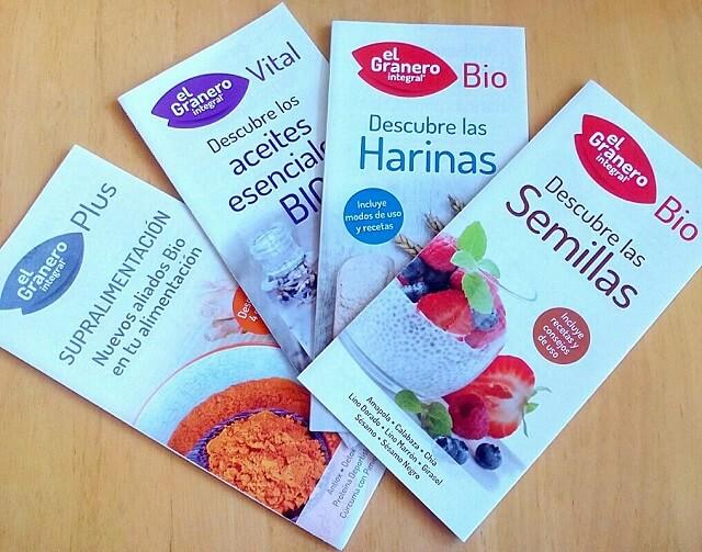 cuatro folletos de granero integral