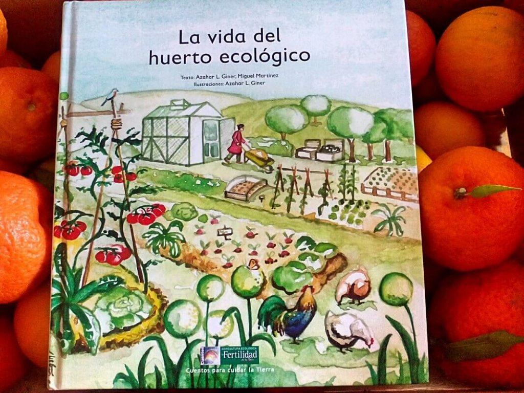 cuento de La vida del huerto ecológico junto a mandarinas ecológicas