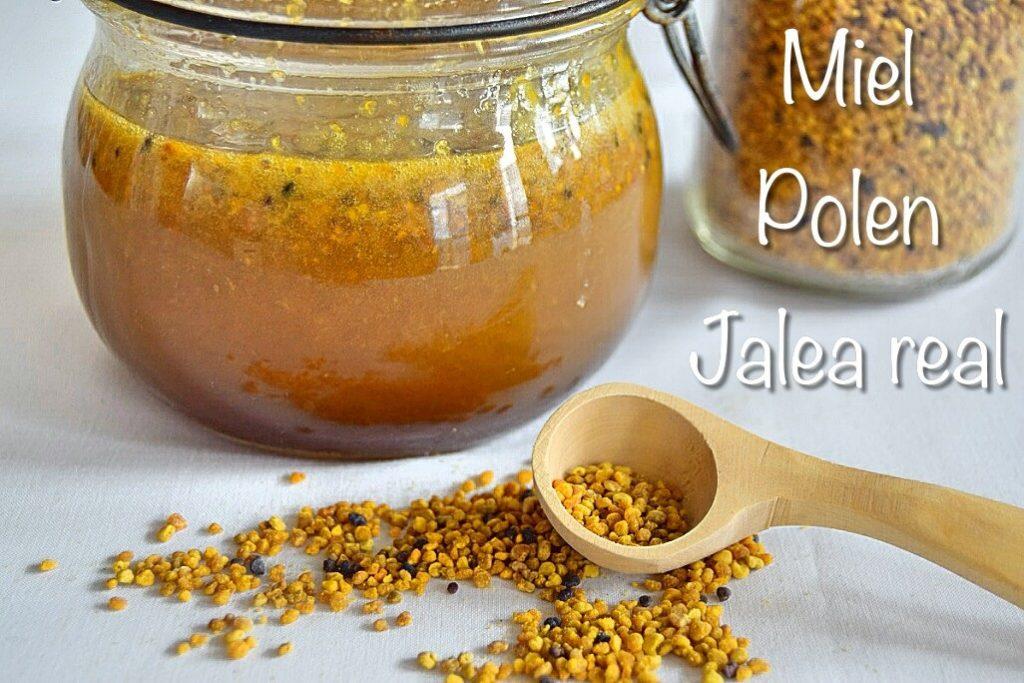 Preparado de miel, polen y jalea real para mejorar nuestra salud