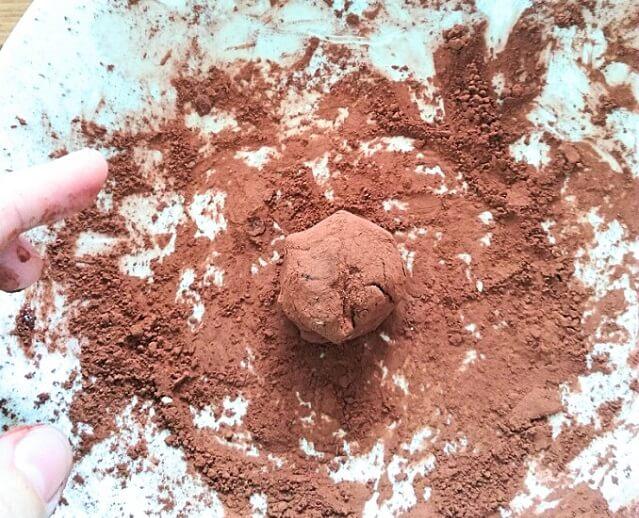 Trufas veganas de chocolate con mucho calcio