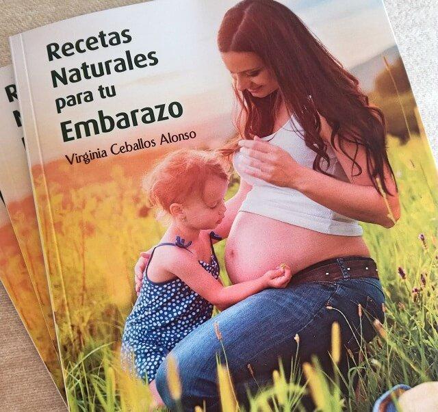 la portado del libro recetas naturales para tu embarazo